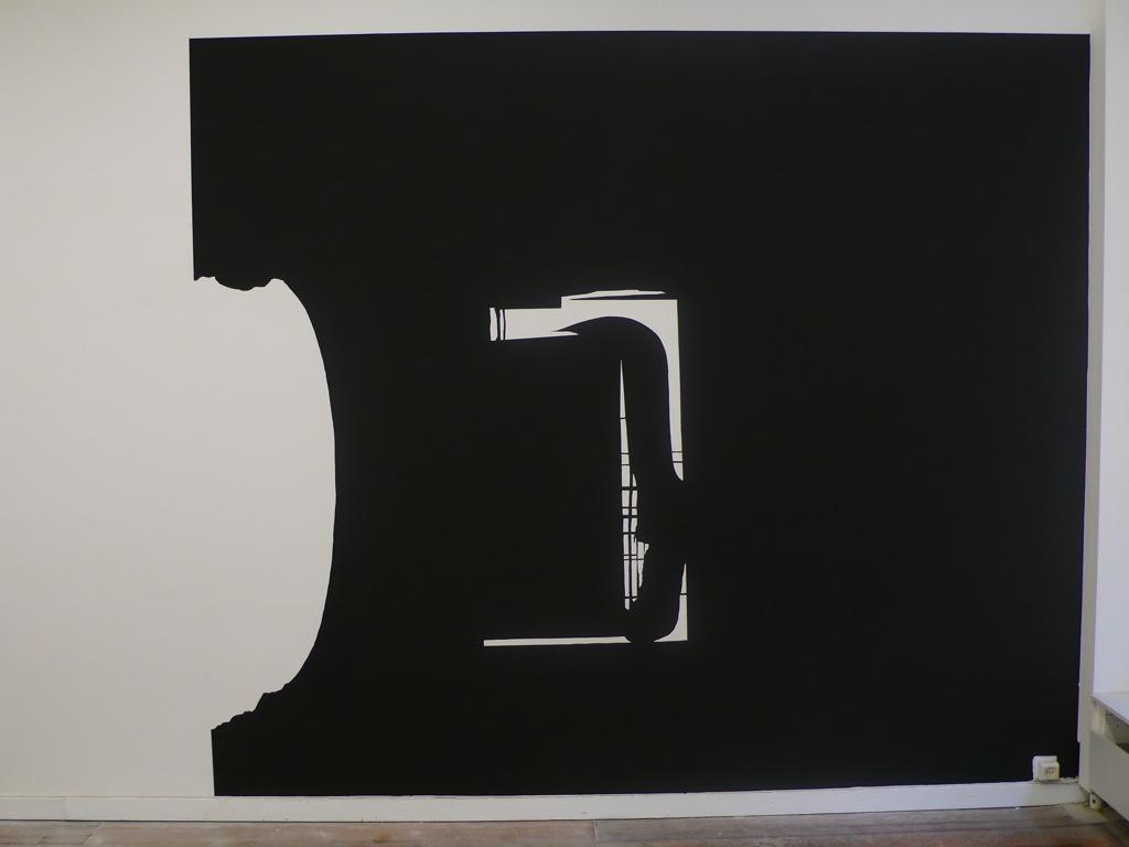 La surface de réparation / Vue de l'exposition Disparate, Galerie Desimpel, Bruxelles, 2008