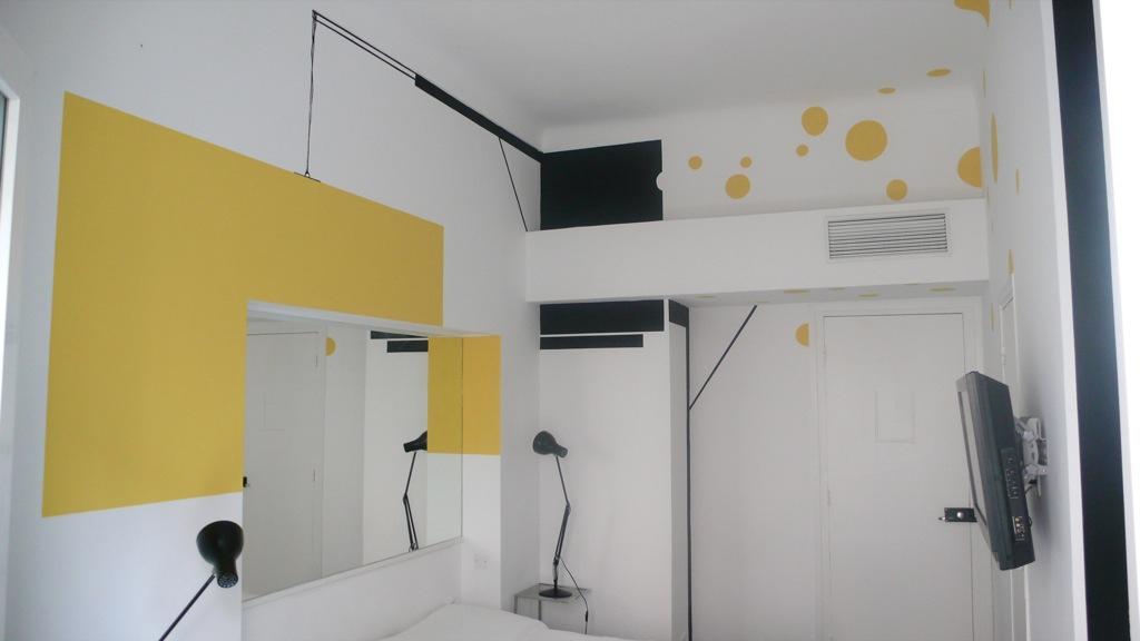 Vue imprenable, Hôtel Windsor, réalisation de la chambre n°10, Nice, 2008